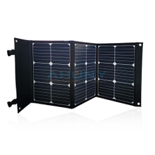 3x20w 60w foldable solar kit suitcase style back contact cell solar module 5v-24v for charging laptop smart phone portable power generator